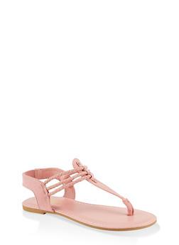 Corded Thong Sandals - MAUVE - 1112004063870