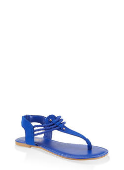 Corded Thong Sandals - 1112004063870