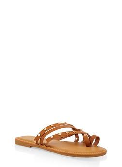 Studded Strappy Sandals - 1112004066151