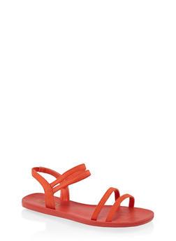4 Band Slingback Sandals - 1112004066675