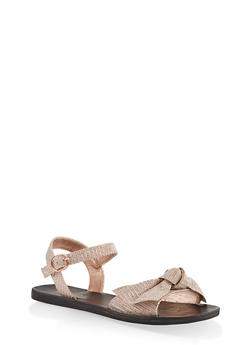 Knotted Bow Strap Sandals - 1112004066676