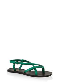Criss Cross Thong Sandals - 1112004066677