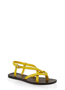 Criss Cross Thong Sandals - 1112004066677