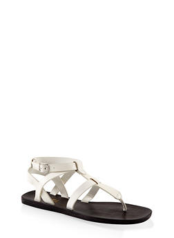 Caged Thong Sandals - WHITE - 1112004066702