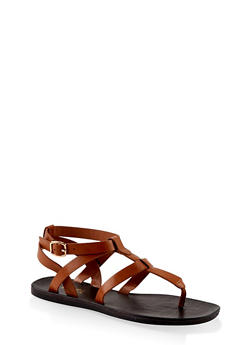 Caged Thong Sandals - 1112004066702