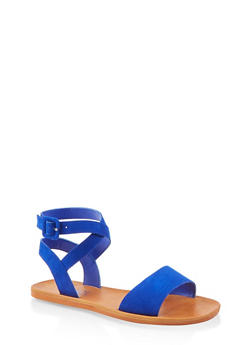 Criss Cross Ankle Strap Sandals - 1112004066703