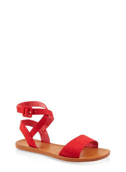 Criss Cross Ankle Strap Sandals - 1112004066703