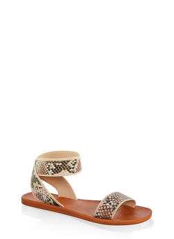 Elastic Single Strap Sandals - 1112004066706