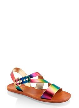 Asymmetrical Strap Sandals - 1112004066720