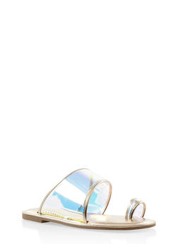 Iridescent Toe Ring Sandals - 1112004067468