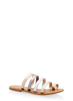 Strappy Slide Sandals - 1112004067471