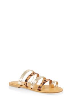 Strappy Slide Sandals - LEOPARD PRINT - 1112004067471