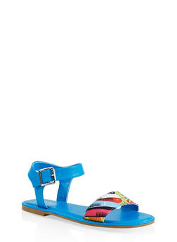 Single Band Ankle Strap Sandals - 1112004067483