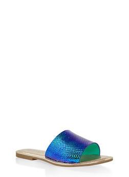 Wide Band Slide Sandals - 1112004067484