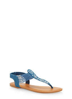 Studded Thong Sandals - 1112004067629