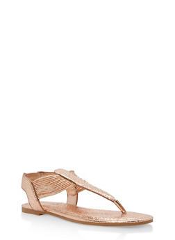 Shimmer Strap Thong Sandals - ROSE GOLD CMF - 1112004067878