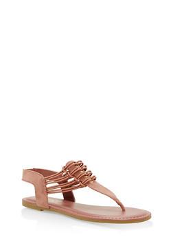 Stretch Loop Thong Sandals - MAUVE F/S - 1112004067879