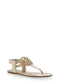 Stretch Loop Thong Sandals - GOLD CMF - 1112004067879