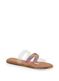 Triple Band Slide Sandals - 1112004067884