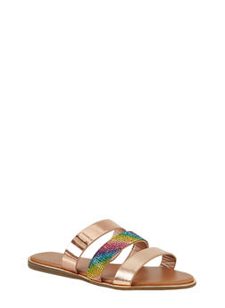 Triple Band Slide Sandals - 1112004067884