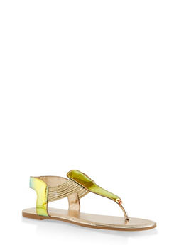 Iridescent Thong Sandals - 1112004067890