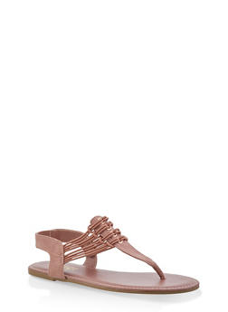 65abd8fb4a5d19 Strappy Slingback Thong Sandals - 1112004067891