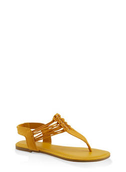 Strappy Slingback Thong Sandals - 1112004067891
