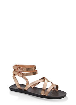 Multi Cross Strap Sandals - 1112004067903