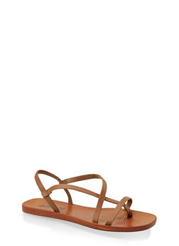 Toe Loop Strappy Sandals - 1112004067904