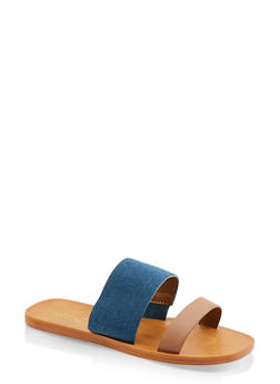 Double Band Slide Sandals - 1112004067913
