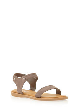 Sandals with Studded Accents - 1112004068386