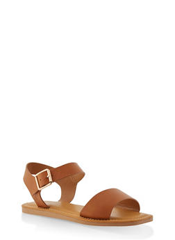 Ankle Strap Sandals - TAN - 1112004068725
