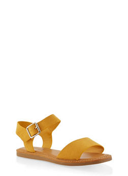 Ankle Strap Sandals - YELLOW - 1112004068725