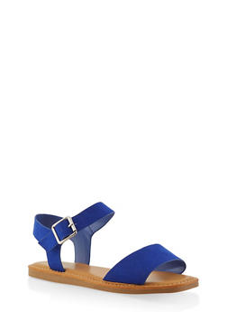 Ankle Strap Sandals | 1112004068725 - Blue - Size 7.5 - 1112004068725