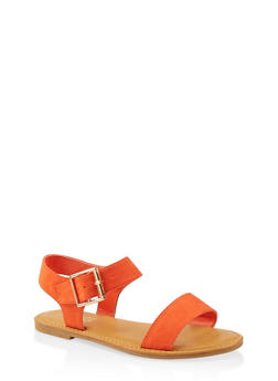 Single Buckle Ankle Strap Sandals - 1112004069285