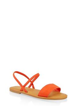 One Band Slingback Sandals - 1112004069286