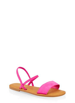 One Band Slingback Sandals - NEON PINK - 1112004069286