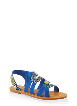 Two Tone Slingback Sandals - 1112004069288