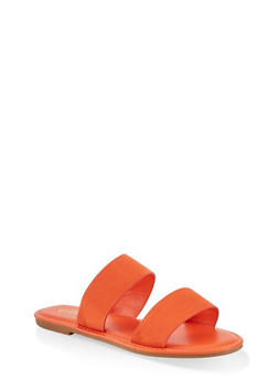 Two Band Slide Sandals | 1112004069291 - ORANGE - 1112004069291