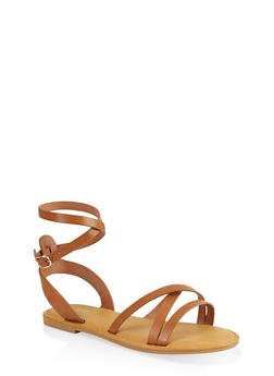 Strappy Open Toe Sandals - 1112004069294