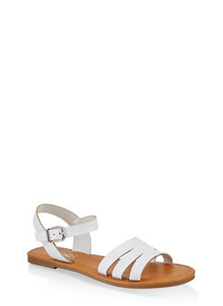 Cut Out Ankle Strap Sandals - 1112027612258