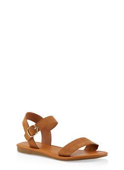 Ankle Strap Sandals | 1112027612649 - CAMEL - 1112027612649