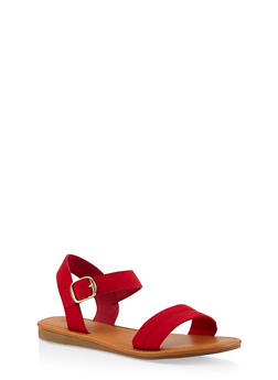 Ankle Strap Sandals | 1112027612649 - RED S - 1112027612649