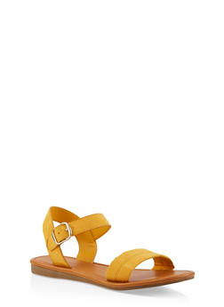 Ankle Strap Sandals | 1112027612649 - YELLOW S - 1112027612649