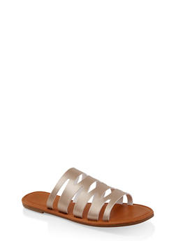 Laser Cut Slide Sandals | 1112027615812 - GOLD - 1112027615812