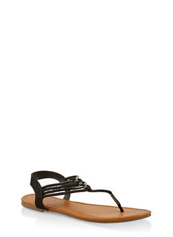 Braided Strap Thong Sandals - 1112027615815