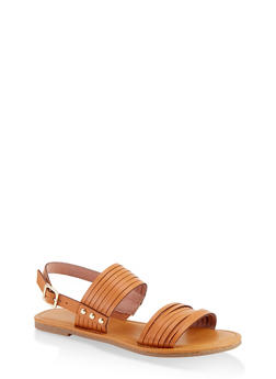 Multi Band Slingback Sandals - 1112027615825