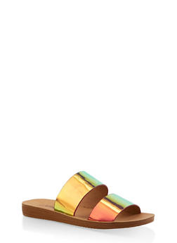 Double Band Slide Sandals - PINK - 1112056634030
