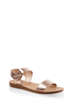 Velcro Ankle Strap Sandals - 1112056634044