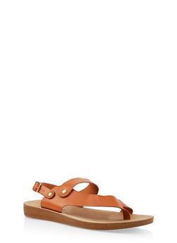 Asymmetrical Ankle Strap Sandal - TAN - 1112056634445